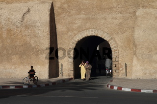 Gate of the Cite Portugaise - the Portuguese Fortified City of Mazagan. El-Jadida