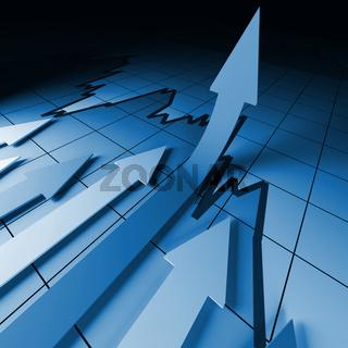 financial stat arrows