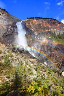 Takakkaw Falls Rainbow in Canada