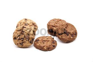 Frische Kekse mit Schokolade