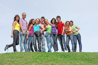 group of diverse teens