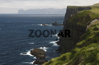 Cliff of the Mykines island