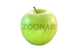 Frischer grüner Apfel - freigestellt