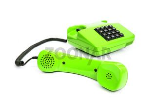 Klassisches grünes Telefon aus den Achtzigern