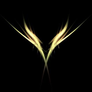 abstract golden light figure