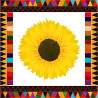 Autumn sunflower background