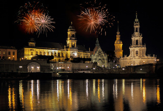 Feuerwerk in Dresden