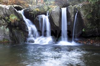 autumn waterfall at the black dragon pool