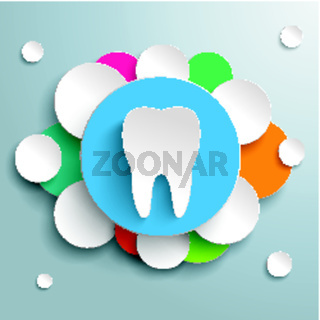 White Tooth Blue Orange Design