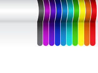 Colorful Lines Background on White