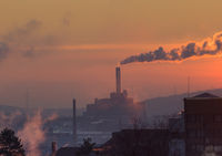waste-fed heating plant