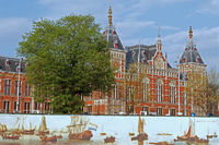 Central station building of Amsterdam