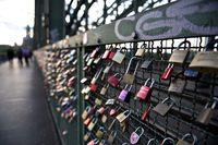 Padlocks at Hohenzollern Bridge in Cologne