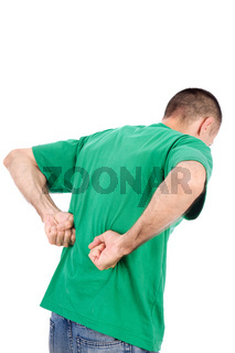 Man have a kidney pain