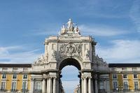 Archway of Augusta Street at Lisbon