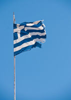 Tattered greek banner
