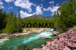 McDonald Creek Glacier National Park