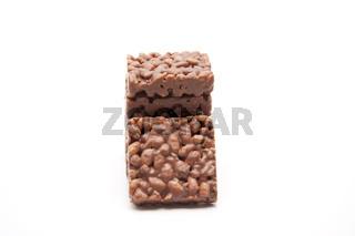Puffreis mit Schokolade