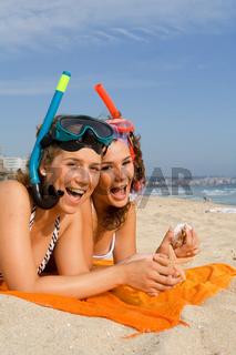happy teens on vacation