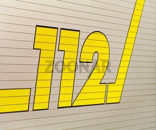 Feuerwehr 112 Aufschrift