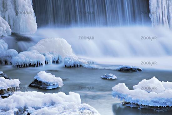 Nied-Waterfall, Bouzonville, Lorraine, France