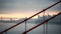 San Francisco Skyline through Golden Gate Bridge
