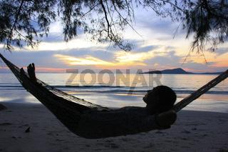 Sunrise at Koh Rong island, Cambodia