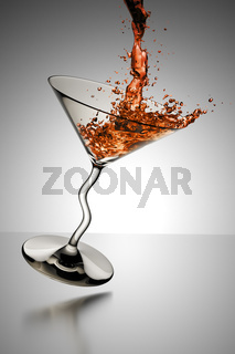 cocktail glass splash