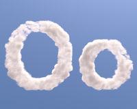 Letter O cloud shape