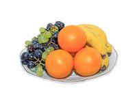 fruit set on white background