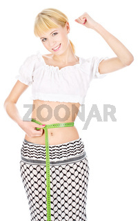 Happy woman lost weight