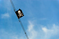 pirate flag blue sky