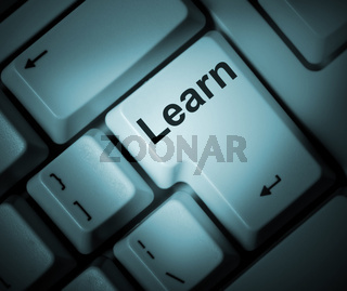 keyboard with key learn