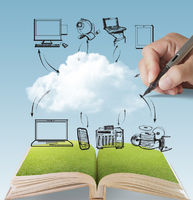open book of cloud network