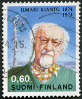 FINLAND - 1974: shows Ilmari Kianto (1874-1970) and Old Pine