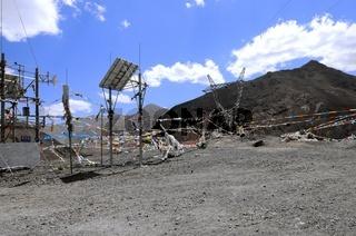 Technik und Glaube in Tibet China