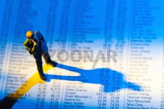 Aktienkurse in einer Zeitung