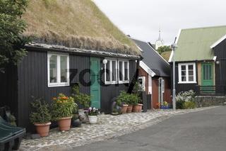Tinganes - the old town of Tórshavn. Faroe Islands