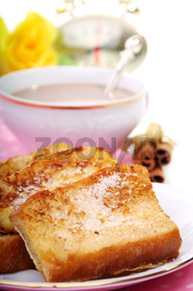 French toast for breakfast.