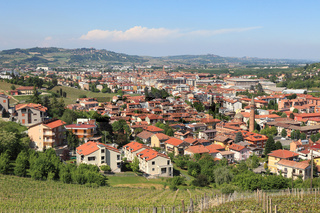 Town of Alba in Piedmont, northern Italy.