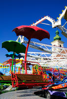 red carousel seat funfair
