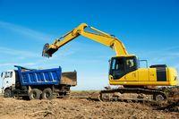 excavator loader at work