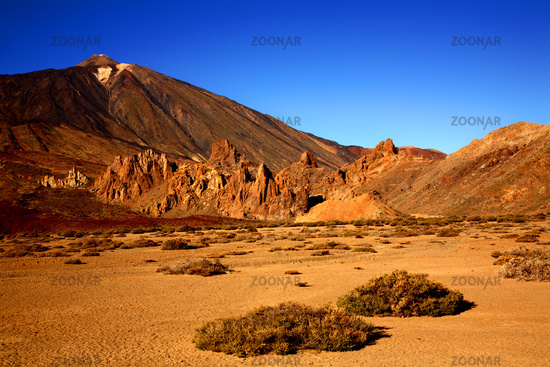 Volcano Teide with Los Roques de Garcia in the for