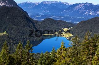 Der Hintersteiner See am Wilden Kaiser, Tirol, Österreich