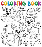 Coloring book dog theme 8 - picture illustration.