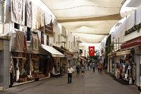 Bodrum bazaar shopping streets