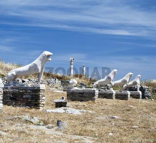 Lions Of Naxians Delos