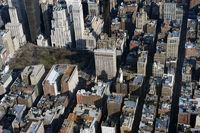 aerial view of Flat Iron Building, New York