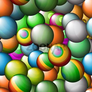 Seamless abstract texture - color balls