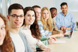 Klasse von Studenten in Universität